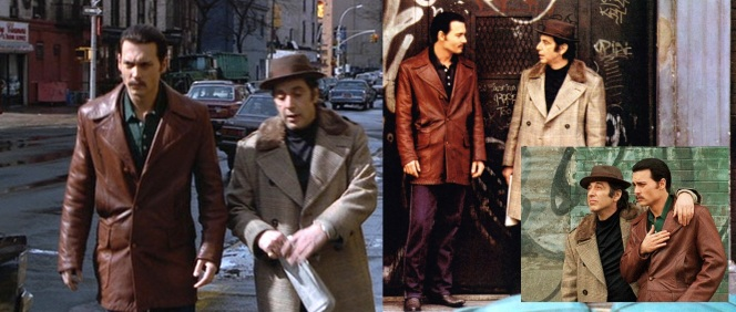 The film makes a point of contrasting the hip, fresh styles of Donnie and the more dated attire worn by Lefty.