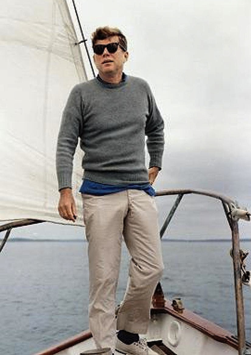 For true kennedy style stand on the bow of a grand yacht in the
