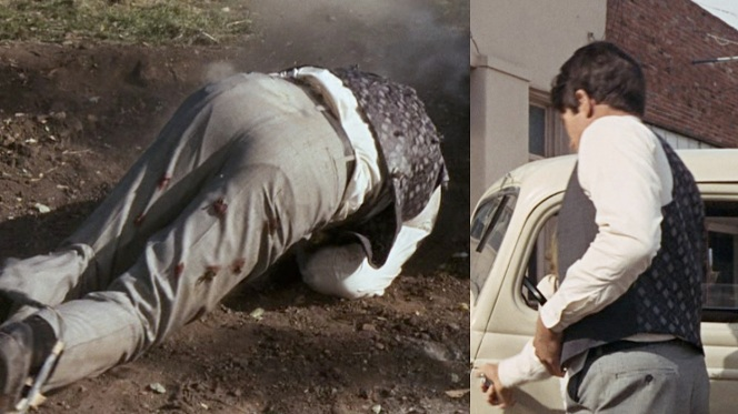 Awkward shots of Warren Beatty's ass.