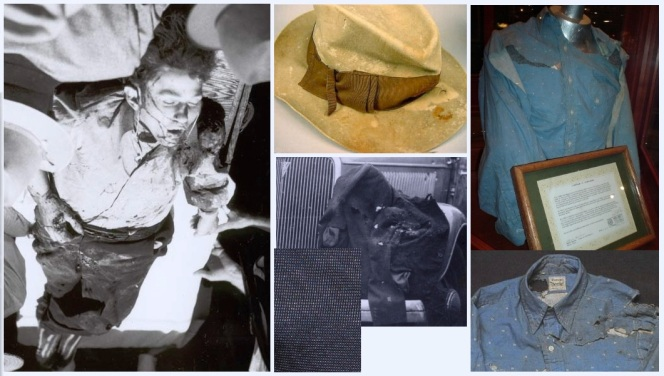 The real Clyde's death attire. All photos courtesy of Bonnie & Clyde's Hideout.