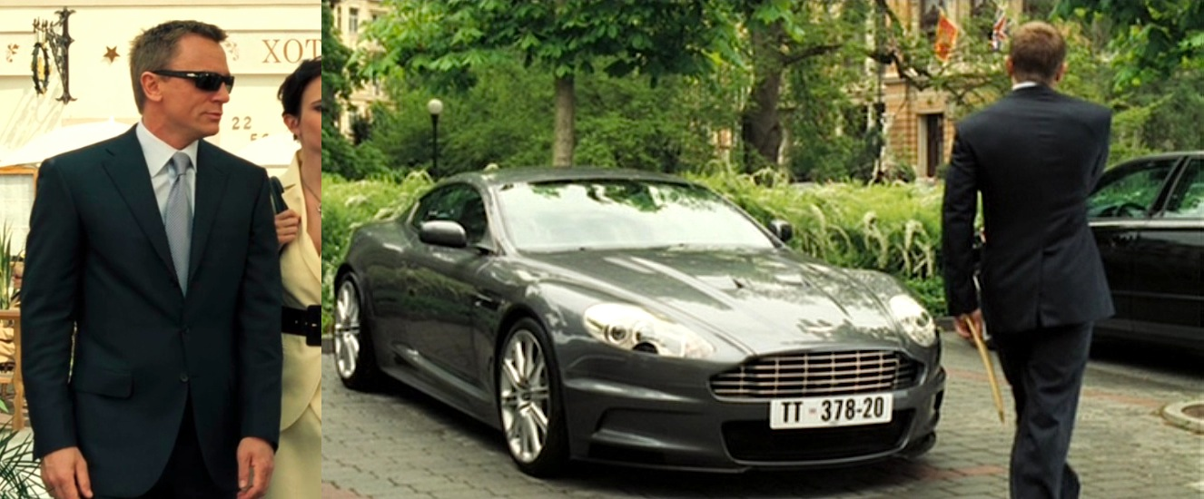 Casino Royale Bonds Dark Blue Suit And New Aston Martin BAMF Style - Aston martin casino royale