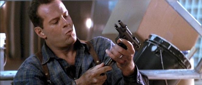 McClane reloads his Beretta.