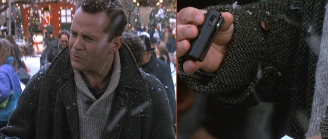 In case you weren't sure if this movie was made in 1990, check out McClane's rad beeper.