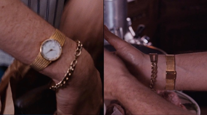 Henry's gold watch isn't the briefly seen Rolex he acquired sometime around Christmas 1978. Any idea what he's wearing?