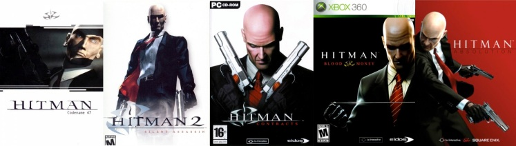 The evolution of Agent 47, 2000-2012.