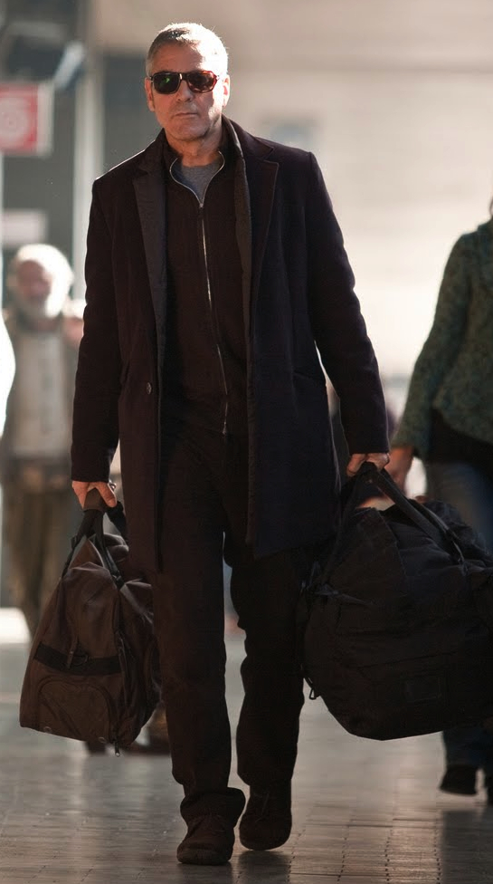 """1896c8820e743 Clooney s Train Station """"Double Coat"""" in The American"""