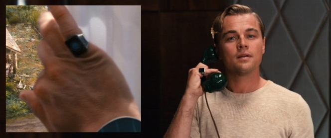 Gatsby's ring is actually the first glimpse we get of him in the film.