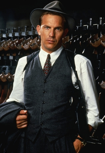 Kevin Costner as Eliot Ness in The Untouchables (1987).