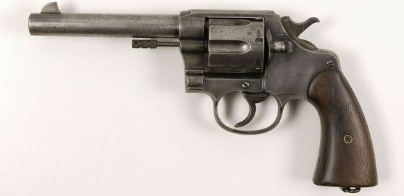 Clyde may have preferred the M1911, but this exact Colt New Service was found in his car on the day he was killed.