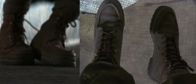 Strong soles or not, Bond's boots wouldn't do him a lick of good if he had to free fall 300 feet.