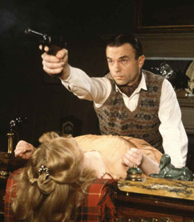 """Sam Neill as Sidney Reilly in """"After Moscow"""", episode 9 of Reilly: Ace of Spies (1983)."""