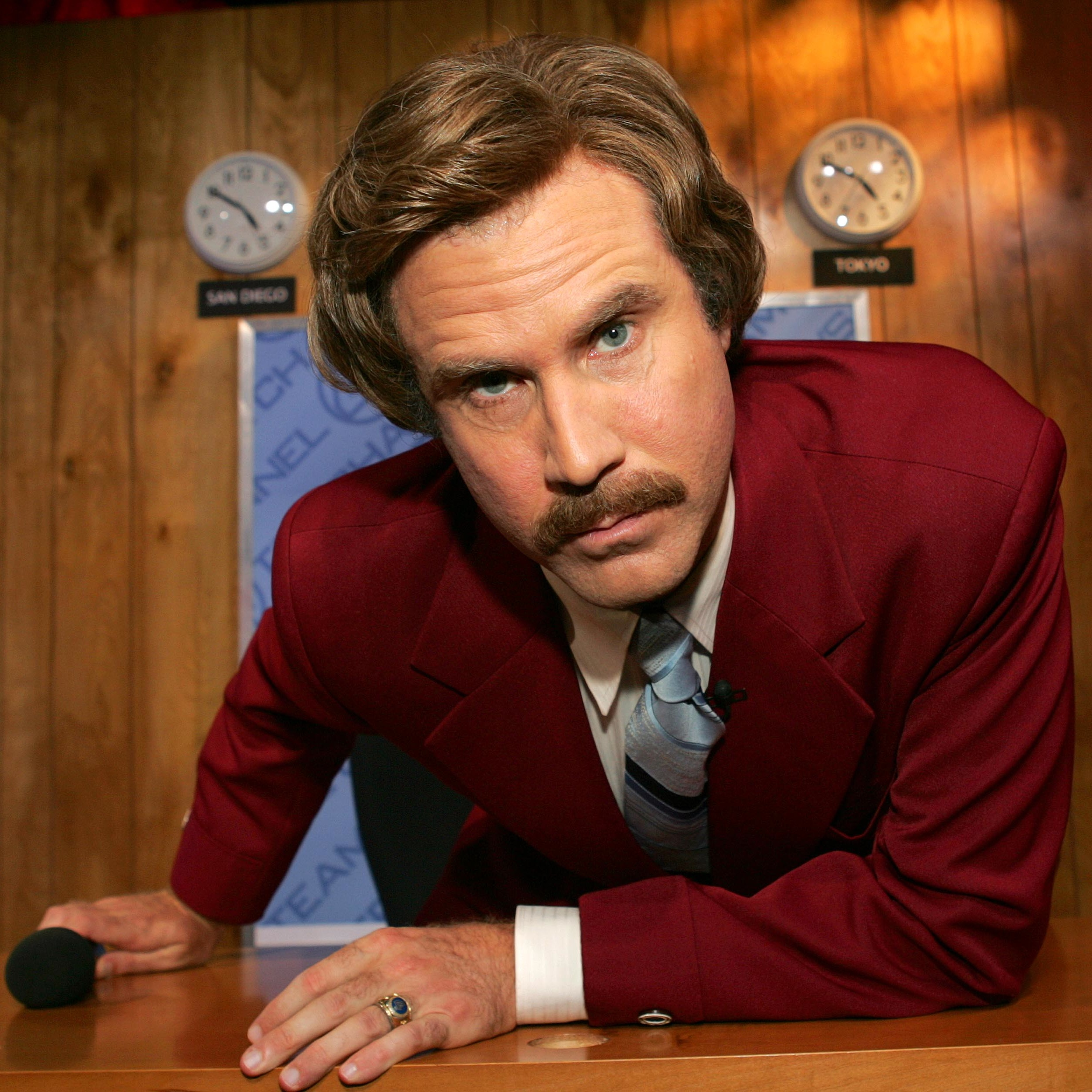 Will Ferrell as Ron Burgundy in Anchorman (2004).  sc 1 st  BAMF Style : anchorman couples costume  - Germanpascual.Com