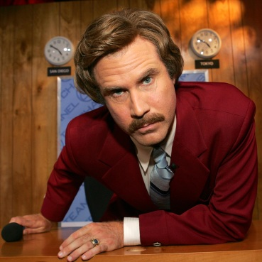 Will Ferrell as Ron Burgundy in Anchorman (2004).