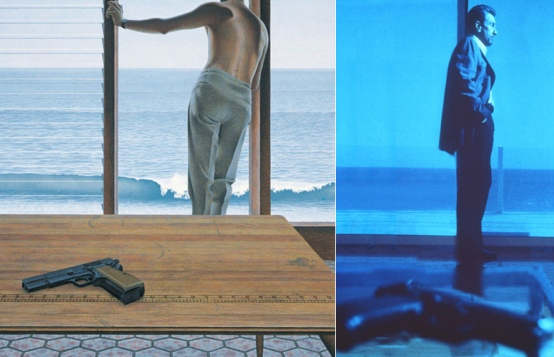 Colville's 1967 painting (left) and De Niro in Heat (right).