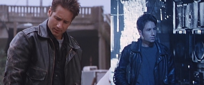 Brian, like Hank, wears his leather jacket with either a button-down shirt and/or a t-shirt.