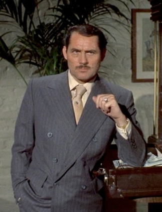 Robert Shaw as Doyle Lonnegan in The Sting (1973).