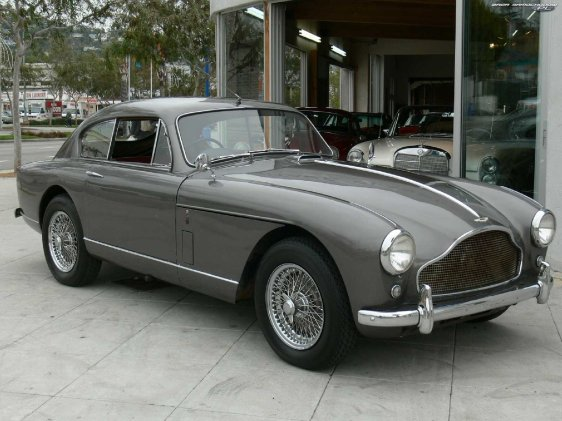Bond would have cruised through the countryside in a gray Aston Martin DB Mark III like this.