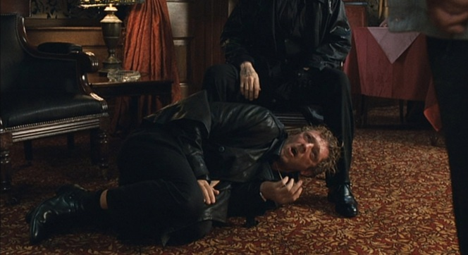 Nikolai's black balmorals and a very dejected-looking Vincent Cassel.