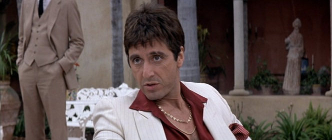 Apparently, Pacino has a thing for necklaces.