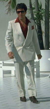 Al Pacino as Tony Montana in Scarface (1983).