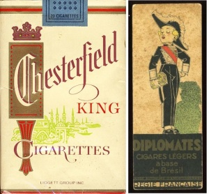 Chesterfield King Size and Diplomates, Bond's two favorite cigarette brands other than Morland Specials.