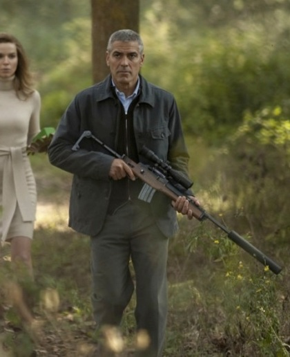 "George Clooney as Jack (or ""Edward""), the hitman in The American (2010)."