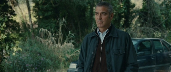 Clooney spends much of the film looking very serious.