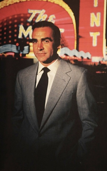 Sean Connery on location in Vegas as James Bond in Diamonds are Forever (1971).
