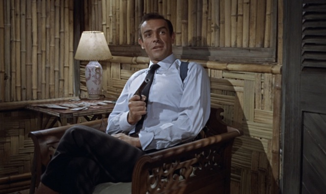 Connery spends a lot of time coatless in this flick.
