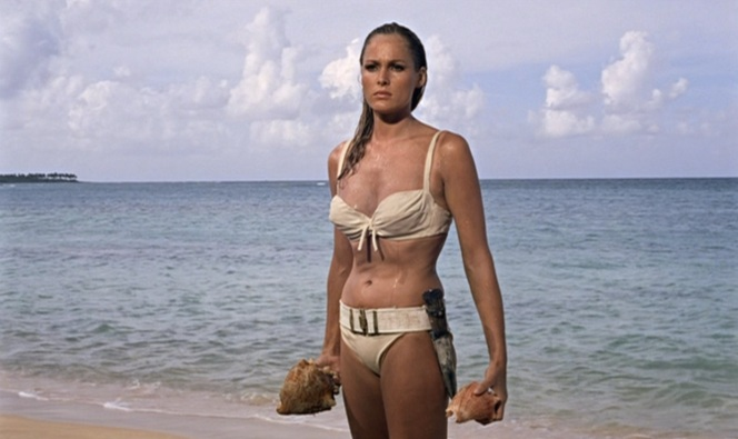 """The producers evidently chose Dr. No as the first film in the series as it was decided that Honey's iconic emergence from the sea would validate the entire project. I'm sure """"validated"""" explains how we all felt watching that scene for the first time."""