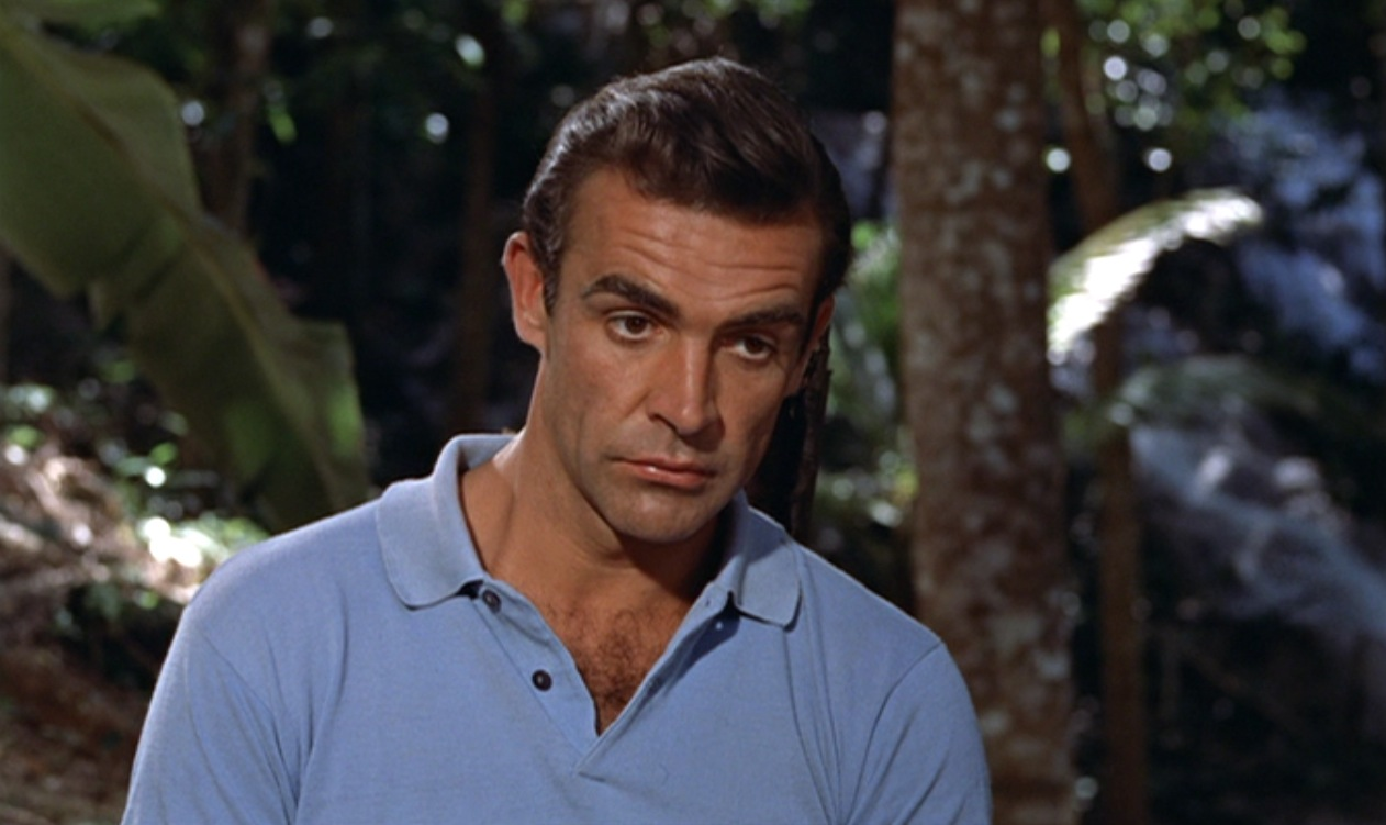 ... light blue polo like 007\u0026#39;s. Connery\u0026#39;s shirts didn\u0026#39;t have buttons; they had \u0026quot;chest hair concealment devices\u0026quot;