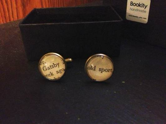 My personal pair of Gatsby cuff links.