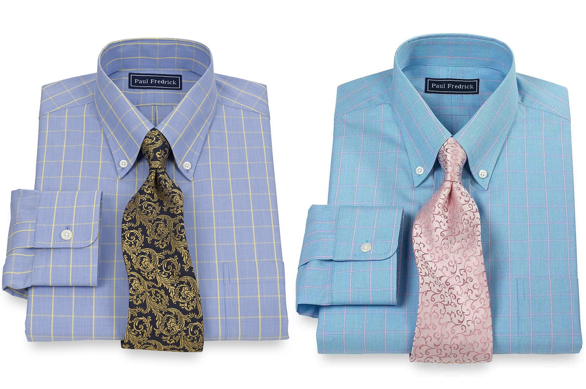 a147ddfd3 Paul Fredrick also offers some eye-grabbing casual shirts. If you re wearing