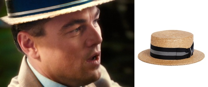 The Brooks Brothers hat has a different ribbon than the one worn by Gatsby in the film, but do you really want to turn out the way he did?