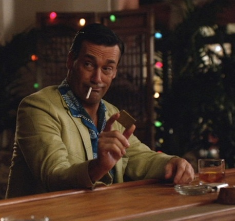 "Jon Hamm as Don Draper in ""The Doorway"", Episode 6.01 of Mad Men."