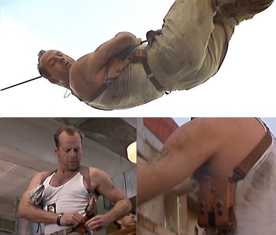 McClane's holster gets plenty of screen time throughout Die Hard with a Vengeance.