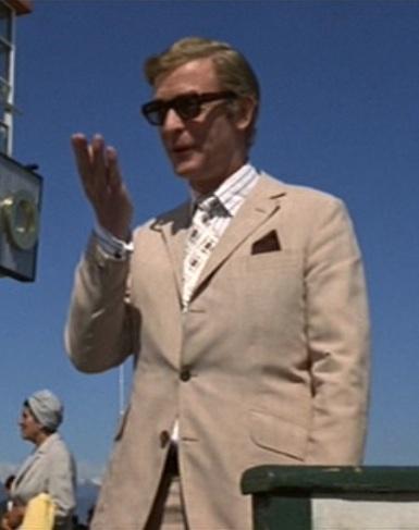 Michael Caine as Charlie Croker in The Italian Job (1969).