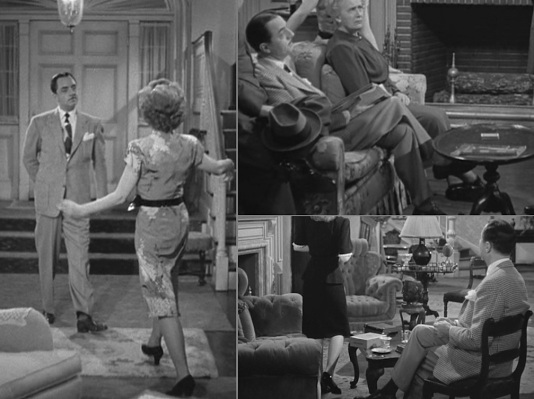 Nick's footwear throughout these scenes including his gray socks (upper right) and black socks (lower right).