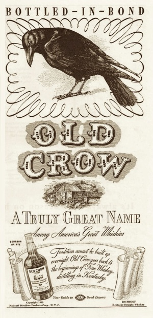 An Old Crow ad from 1939, before it was purchased by Jim Beam (now Beam Suntory).