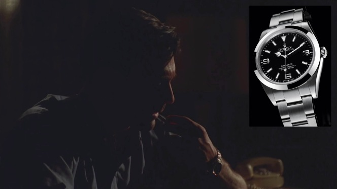 Don's Rolex Explorer ticks away the time during his night of introspection.
