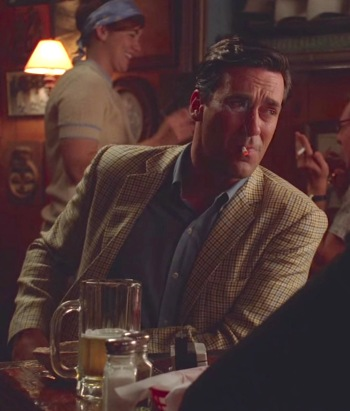 "Jon Hamm as Don Draper on Mad Men (Episode 4.03: ""The Good News"")"