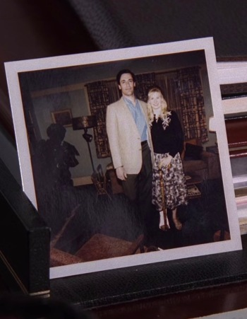 """""""Dear Don, Stephanie doesn't think we look old."""" Don receives this photo from his visit to Anna in the following episode, """"The Rejected"""" (Episode 4.04)."""