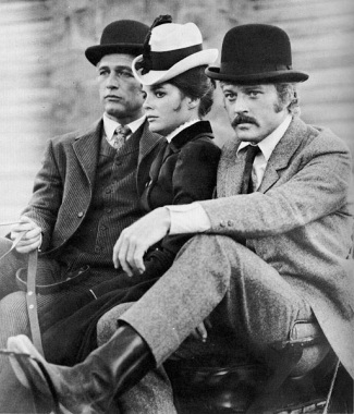 Paul Newman, Katharine Ross, and Robert Redford in Butch Cassidy and the Sundance Kid (1969).