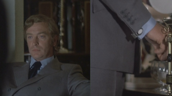 Though he looks sharp in gray also, Carter's blue suit is far more befitting for the badassery that the rest of the film calls for.