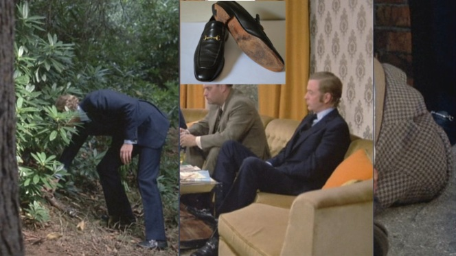 A few different shots of Carter in his fullstrap snaffle bit loafers, and a reasonably similar pair (inset).