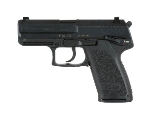 A Heckler & Koch USP Compact pistol like the one Raylan takes from Bo's henchman.