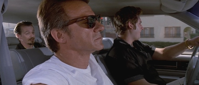 Mr. White's preference for Lanvin shades extends to a pair of tortoiseshell wayfarers he wears when driving around with Nice Guy Eddie before the job.