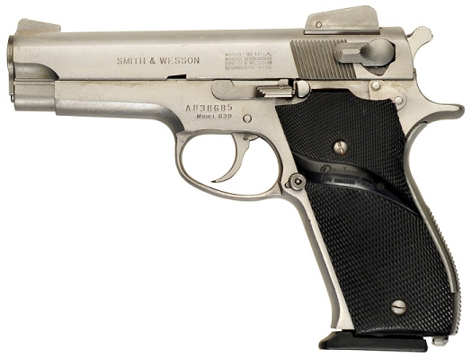 "IMFDB also managed to get its hands on the exact Model 639 used by Harvey Keitel in the film. Note the serial number #A838685 and the clear designation of ""Model 639"" above the trigger."