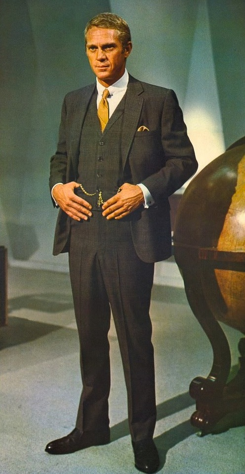 steve mcqueen s brown 3 piece suit as thomas crown bamf style