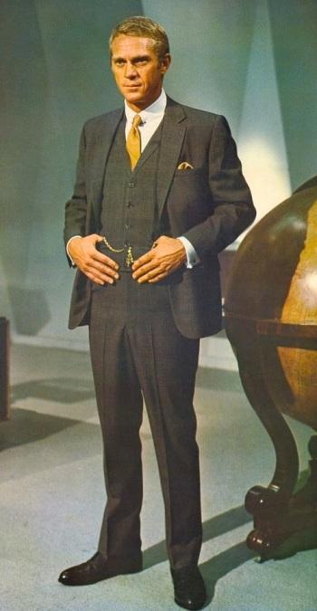 Steve McQueen as Thomas Crown in The Thomas Crown Affair (1968).
